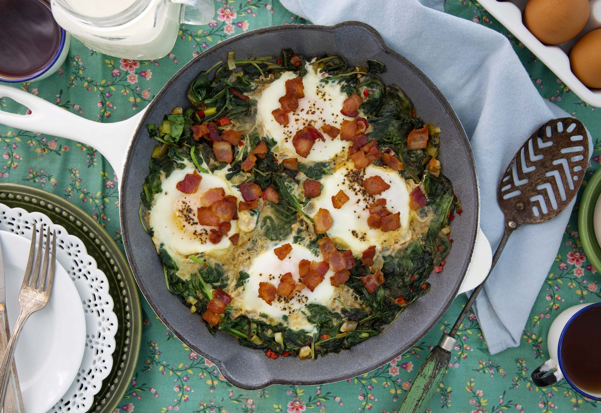 Gluten-Free Spicy Kale and Eggs
