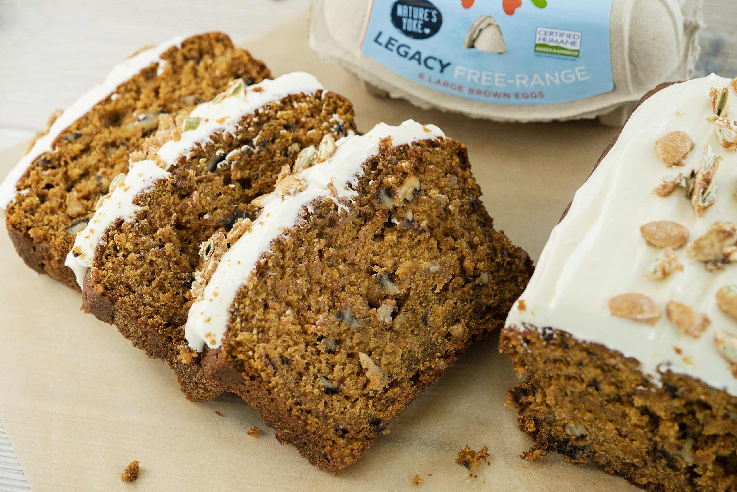 Frosted Pumpkin Spice Bread